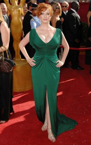 christina hendricks – green dress 1