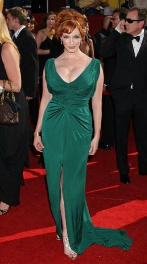 christina hendricks – green dress 2