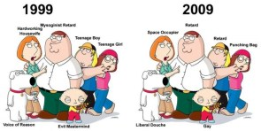 family guy then and now