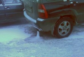 frozen exhaust