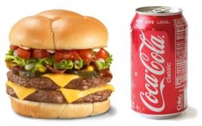 hamburger and coke