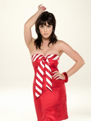 katy perry in red