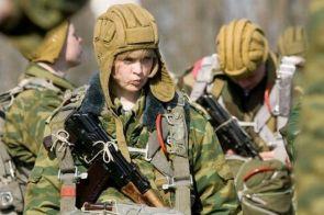 pouty military gal