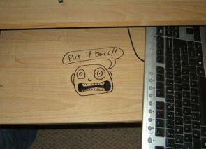 put the keyboard back