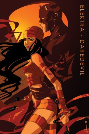 Sho Murase's Elektra/Daredevil pin-up art