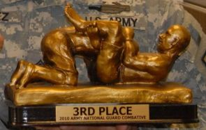 3rd place 2010 army national guard combative award