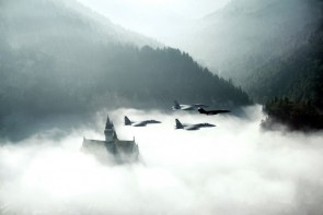 F-15 F-104 over Neuschwanstein 1982