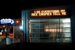 I do everything my rice crispies tell me