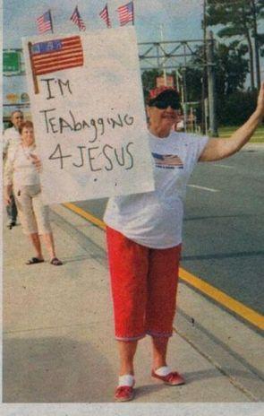 I'm teabagging 4 jesus
