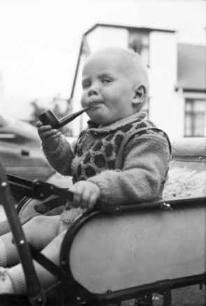baby with pipe