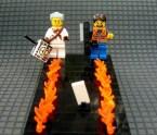 back to the future lego diorama
