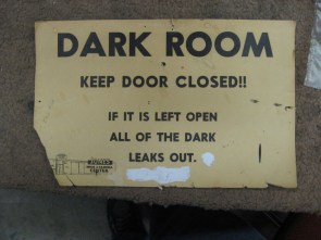 dark room warning label