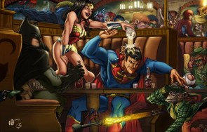 dc superhero bar