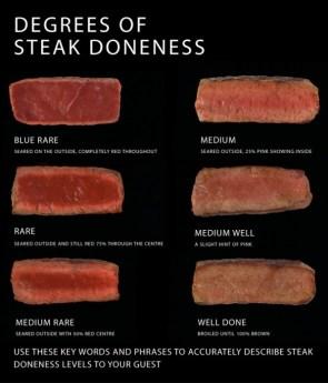 degrees of steak doneness