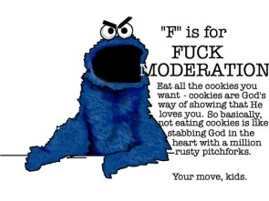 f is for fuck moderation