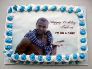 happy birthday – I'm on a cake