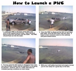 how to launch your water craft