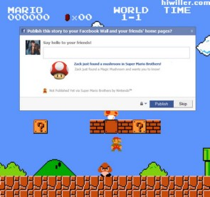 super mario facebook game