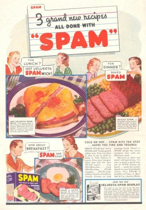 3 grand new recipes all done with spam