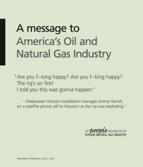 a message to america's oil and natural gas industry