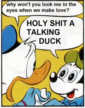 holy shit a talking duck