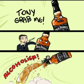 how tony stark became a drunk