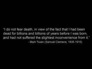 mark twain on death
