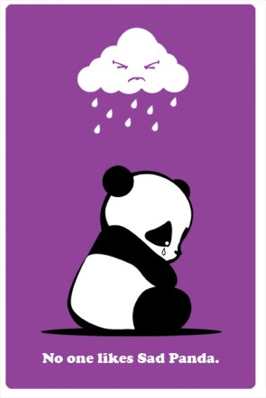 no one likes sad panda