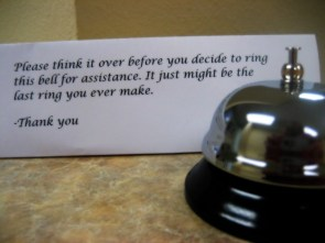think it over before you decide to ring this bell