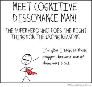 Cognitive Dissonance Man