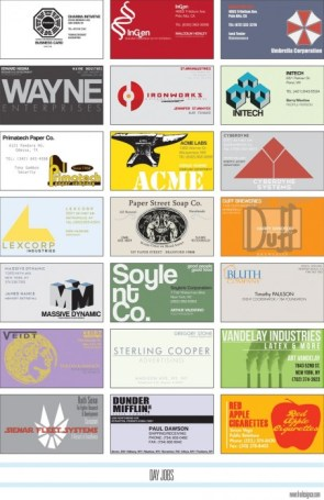 fake business cards