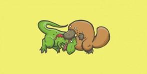 t-rex vs platapus