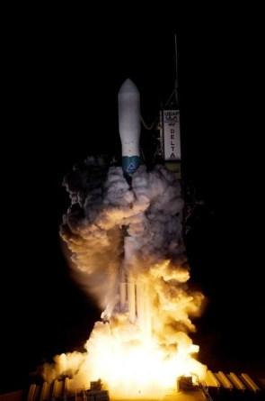 A Delta II rocket carrying NASA's Kepler spacecraft