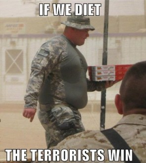 If we diet, the terrorists win