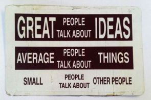 great people talk about ideas