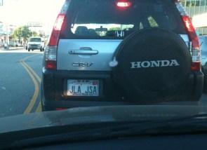 jla jsa license plate