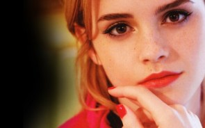 emma watson red close up wallpaper