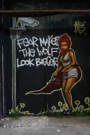 fear makes the wolf look bigger