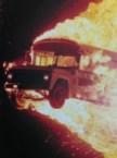 flaming bus