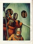 spacemen looking through the portal