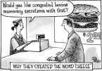 why they created the word cheese