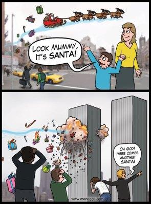 Twin Tower Santa