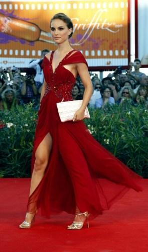 natalie portman in red dress
