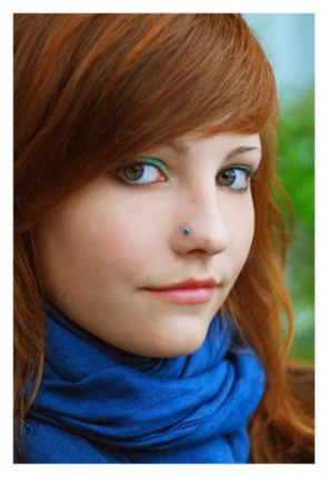 red head with nose ring