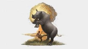kick a rhino in the dick