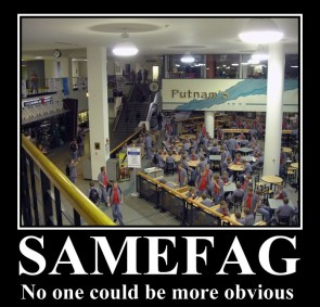 samefag – no one could be more obvious