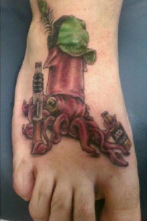 squid whiskey tattoo