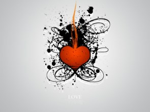 ink heart LOVE