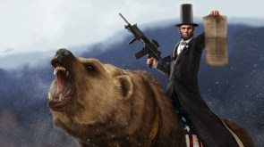 abe lincoln riding a grizzly by sharpwriter-d33u2nl