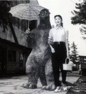 godzilla goes for a walk